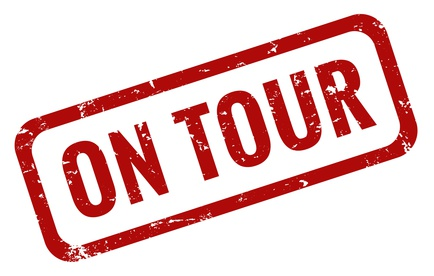 On Tour Stempel rot grunge